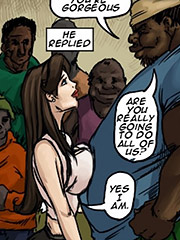 I'm going to be such a good slut for you - Slut for ugly black men by Illustrated interracial