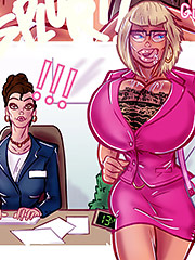 Three guys sure knew how to treat a slutty milf bitch in heat like me - The secret life of Sandy The business trip 2 by Alex comix (Pit parody)
