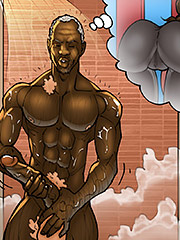 Oh my god, he's huge - The wife and the black gardeners 3 by Kaos comics
