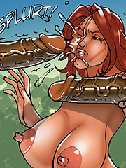 Nipples so hard and sensitive - The wife and the black gardeners 3 by Kaos comics